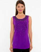 Le Château Beaded Chiffon Sleeveless Blouse