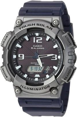 Casio Men's Tough (Solar Powered) Quartz Watch with Resin Strap Black 25 (Model: AQ-S810W-1A4VCF)