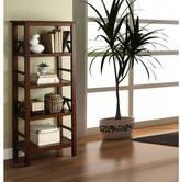 Linon Tiziano 4 Shelf Bookcase Aged Cherry