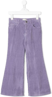Gucci Kids butterfly embroidered corduroy trousers