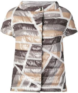 Herno Metallic Quilted Jacket