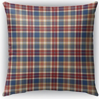 "Hogan Loon Peak Plaid Indoor/Outdoor Throw Pillow Loon Peak Size: 16"" H x 16"" W x 4"" D"