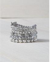 Express chan luu mixed bead gray cuff bracelet