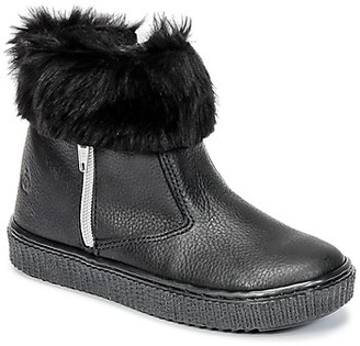 Citrouille et Compagnie HOUPI girls's Mid Boots in Black