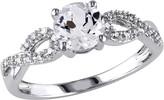 Stella Grace 10k White Gold 1/10 Carat T.W. Diamond & Lab-Created White Sapphire Twist Wedding Ring