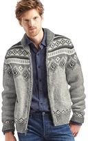 Gap Fair isle shawl sweater