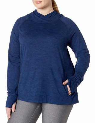 Amazon Essentials Plus Size Brushed Tech Stretch Popover Hood Sweatshirt