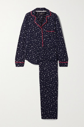 DKNY Printed Stretch-jersey Pajama Set - Navy