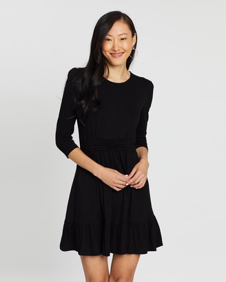 Dorothy Perkins Ruched Waist Fit-And-Flare Dress