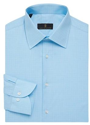 Ike Behar Regular-Fit Shadow Glen Plaid Dress Shirt