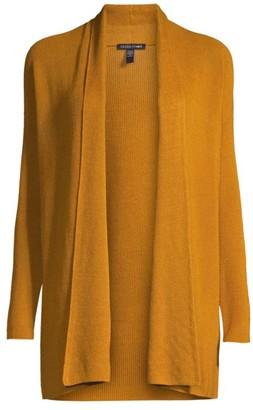 Eileen Fisher High Collar Open Cardigan