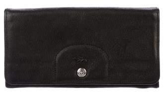 Longchamp Leather Flap Wallet