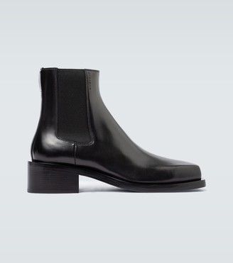 Givenchy Leather square toe ankle boots