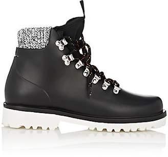 Barneys New York Women's Rubber Hiker Rain Boots - Black