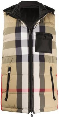 Burberry Check-Print Padded Vest