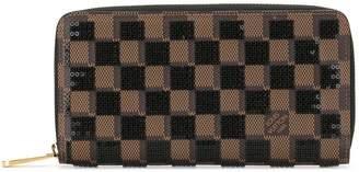 Louis Vuitton 2013 sequinned Damier zipped wallet