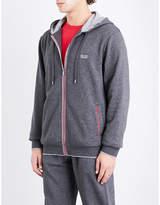 BOSS Contrast-trims cotton-blend hoody