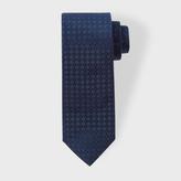 Paul Smith Men's Navy Pin Dot Checkerboard Narrow Silk Tie