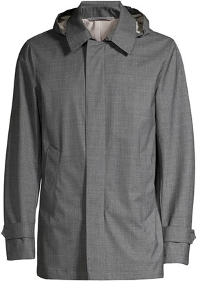 Canali Modern-Fit Hooded Wool Rain Jacket
