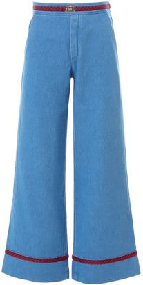 Gucci Wide Leg Belted Jeans