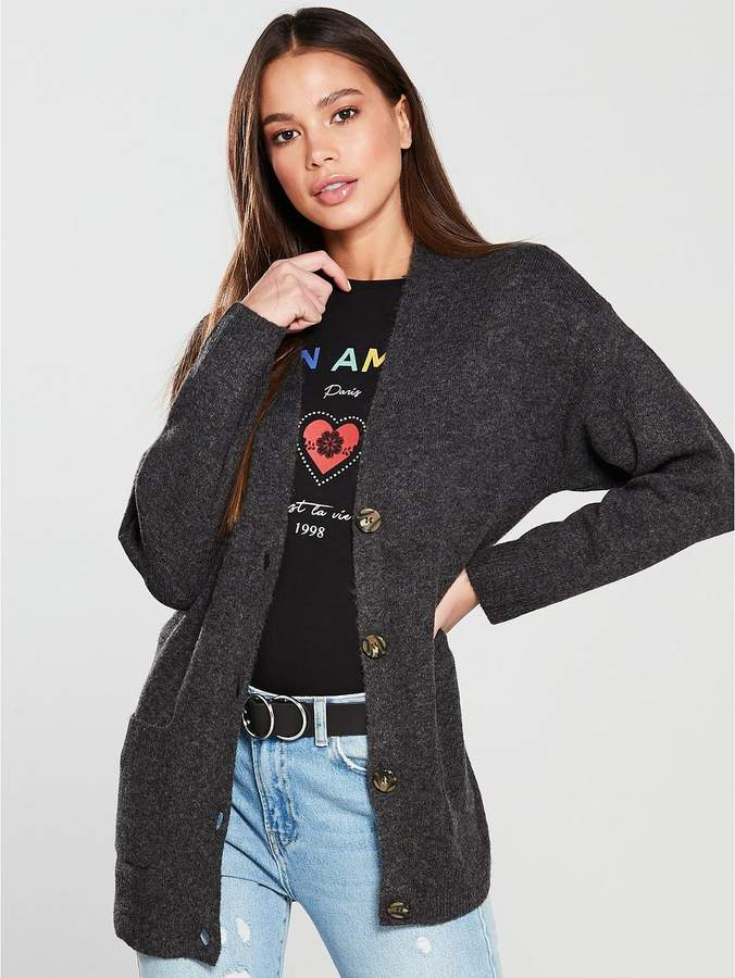 Warehouse Cosy Button Cardigan