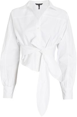 Marissa Webb Emmerson Tie-Waist Oxford Shirt