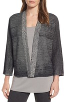 Eileen Fisher Textured Silk & Organic Cotton Cardigan (Regular & Petite)