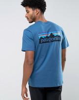 Patagonia P-6 Back Logo T-shirt Regular Fit In Blue