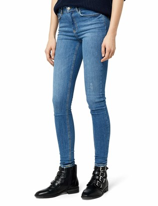 Pieces Women's Pcfive Delly B181 Mw Skn JNS Mbld/noos Skinny Jeans