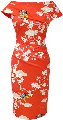 Mellaris Olympia Dress Oriental Print