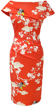 Olympia Dress Oriental Print