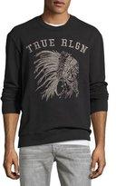 True Religion Logo Crewneck Pullover, Black