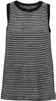 Current/Elliott The Muscle Tee striped cotton-blend tank