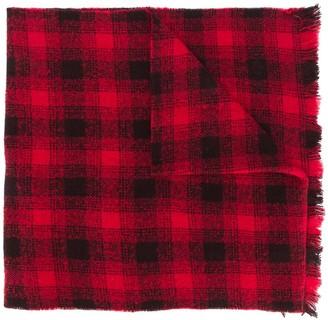 Ermenegildo Zegna Check-Pattern Knitted Scarf