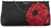 Paule Ka floral-embroidered clutch