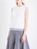 Izzue Ruffled tulle T-shirt