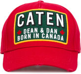 DSQUARED2 Caten patch baseball cap - men - Cotton - One Size