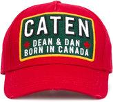 DSQUARED2 Caten patch baseball cap