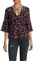 Lucca Couture Freya Floral Print Blouse
