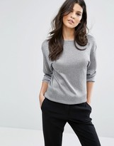 Reiss Rhea Metallic Knitted Top