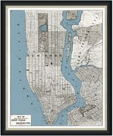 Bed Bath & Beyond Framed Map of Manhattan-Brooklyn Wall Décor