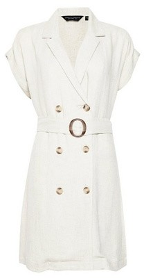 Dorothy Perkins Womens Stone Double Breasted Shirt Dress