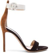 Gianvito Rossi Leather & Suede Portofino Heels