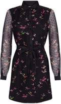 Yumi Curves Flying Bird Print Dress