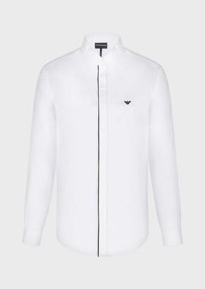 Emporio Armani Cotton Satin Shirt With Detachable French Collar