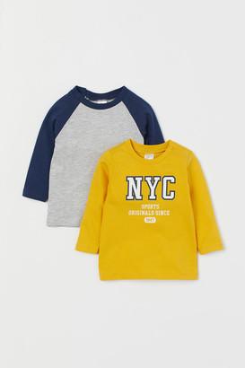 H&M 2-pack Jersey Shirts - Yellow