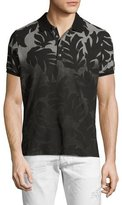 Diesel Palm Leaf Dégradé Polo Shirt, Charcoal