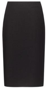 HUGO BOSS Stretch Fabric Pencil Skirt With Piped Pockets - Black