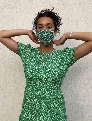 Forever New Charity Mask - Jade Mini Vine Ditsy - 00