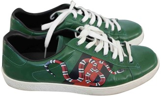 Gucci Ace Green Leather Trainers